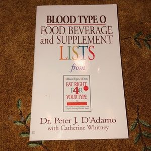 2002 medical book Blood Type O Food, Beverage and